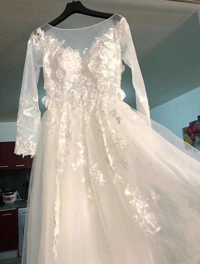 Svadobné šaty veľkosť 42/44 - Obrázok č. 1