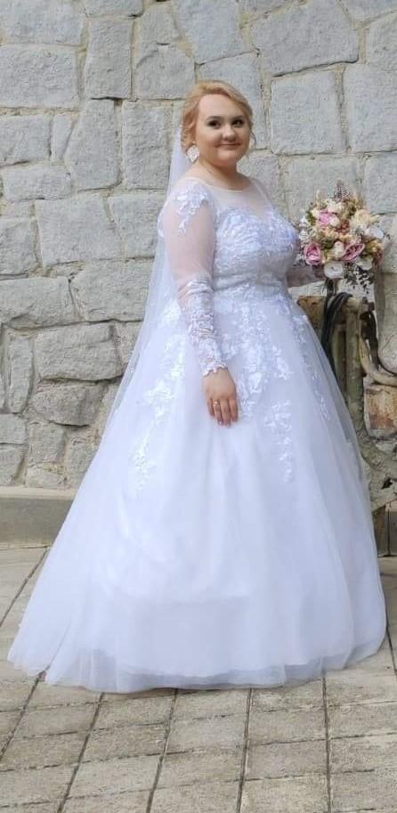 Svadobné šaty veľkosť 42/44 - Obrázok č. 3
