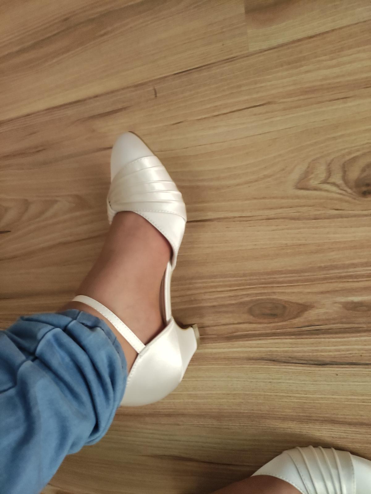 Svadobné topánky veľkosť 41 - Obrázok č. 1