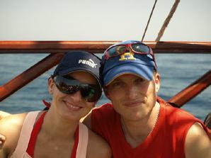 ...my dvaja na dovolenke v tunisku ...