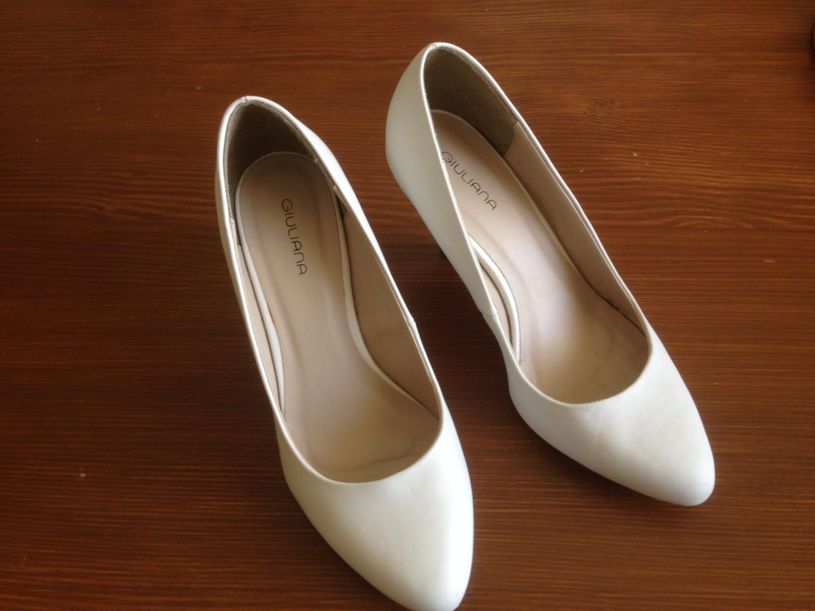 Bílé svatební lodičky vel.37 - Obrázek č. 4