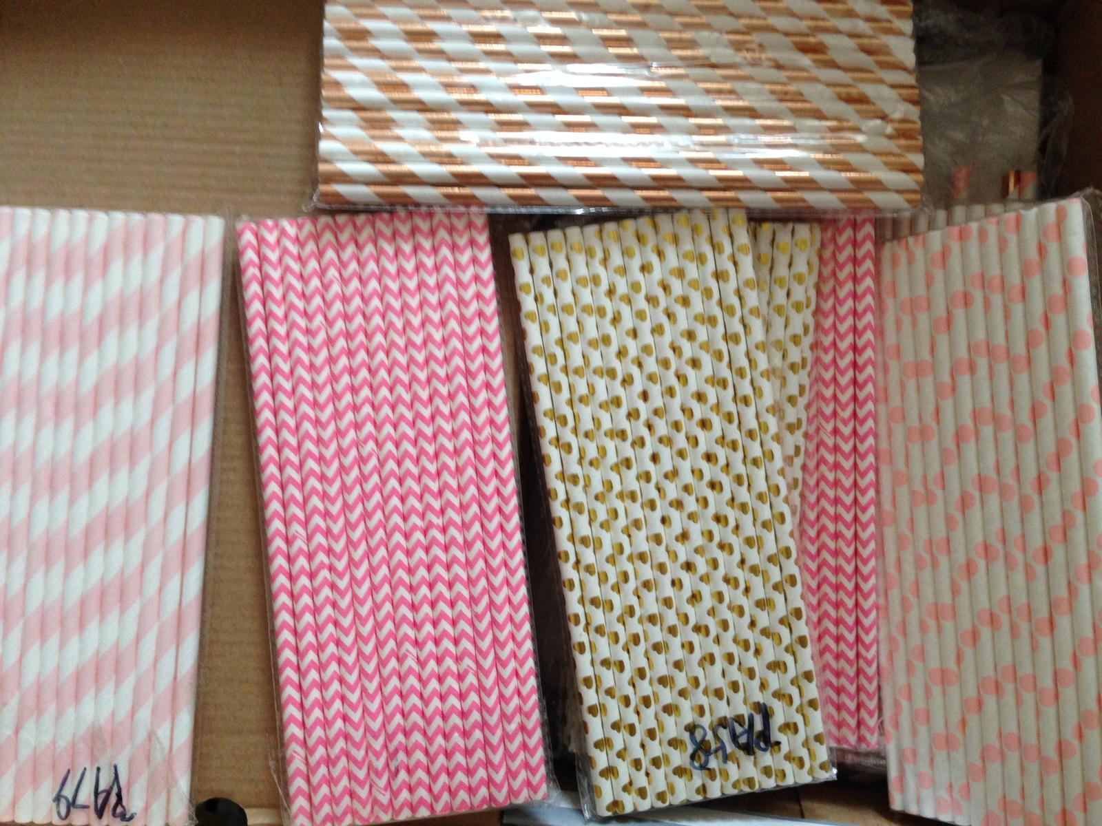 Papírová zdobená brčka - Obrázek č. 1