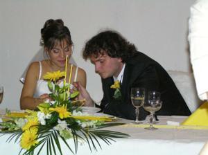 Vzajomne krmenie sa na svadobnej hostine v hoteli Zornicka v Modre-Harmonii