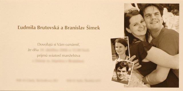 Rozpravkova svadba - Nase oznamenie - este raz dakujem za inspiraciu Adelke 28.