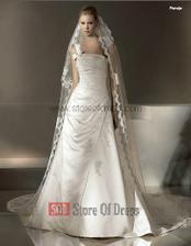 Mé šaty, vybrali jsme během hodiny v Andělském svatebním studiu - zde mají model Paraje bez atypického ramínka