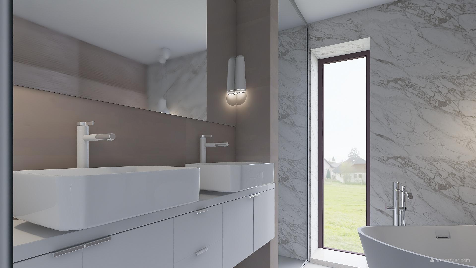 Mé dokonale nedokonalé vizualizace našeho budoucího domu - Dětská koupelna - nástin