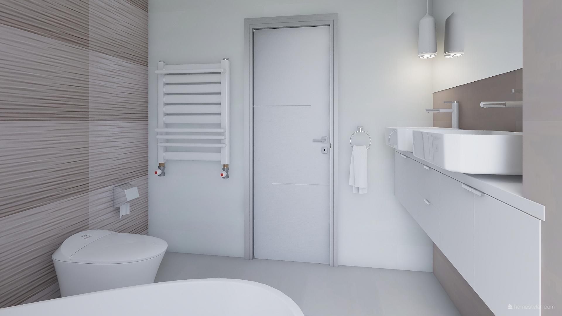 Mé dokonale nedokonalé vizualizace našeho budoucího domu - Dětská koupelna - ten žebříček v Homestyleru lepší nebyl :-)