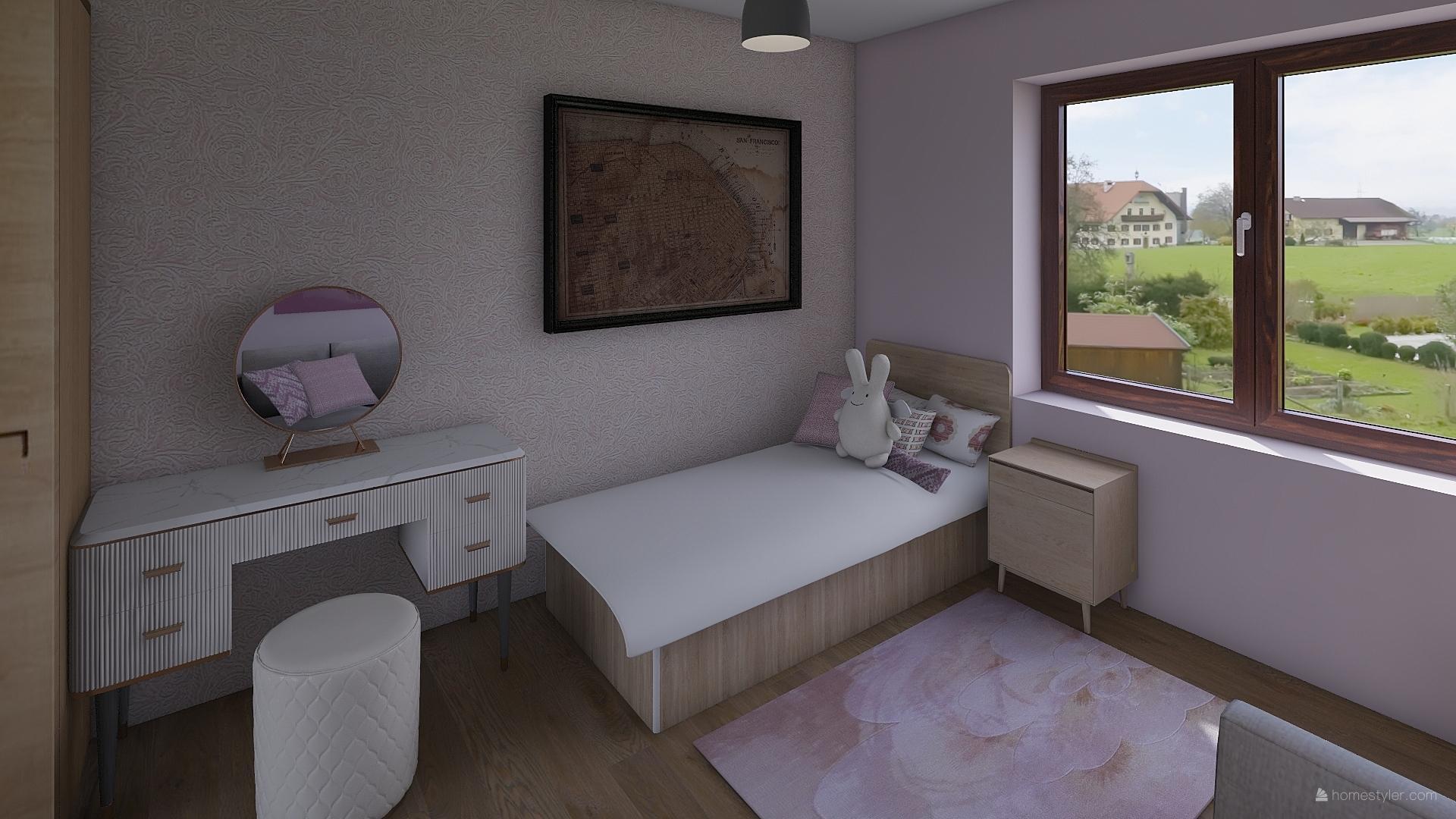 Pro @bungalov8  - pokoj pro holčičku vizualizace - Obrázek č. 6