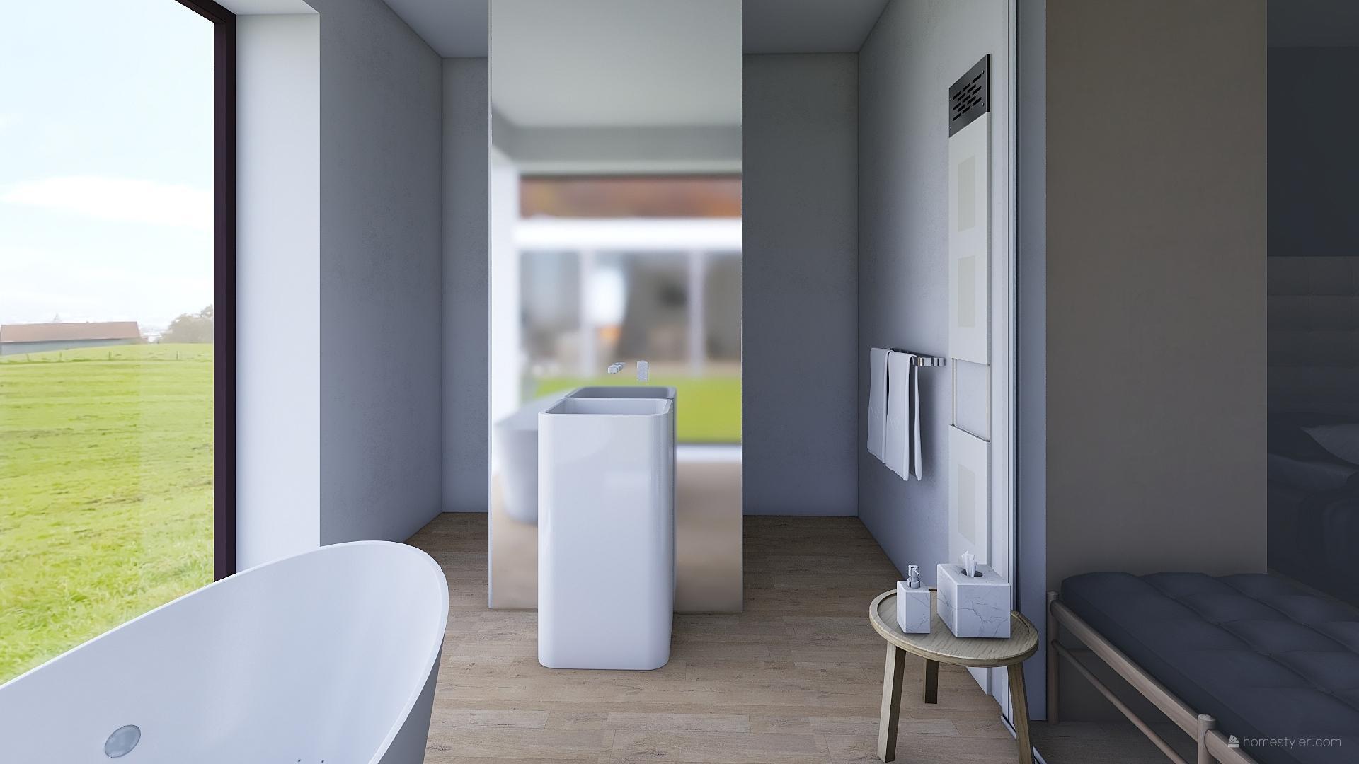 Mé dokonale nedokonalé vizualizace našeho budoucího domu - Koupelna rodičů u ložnice.