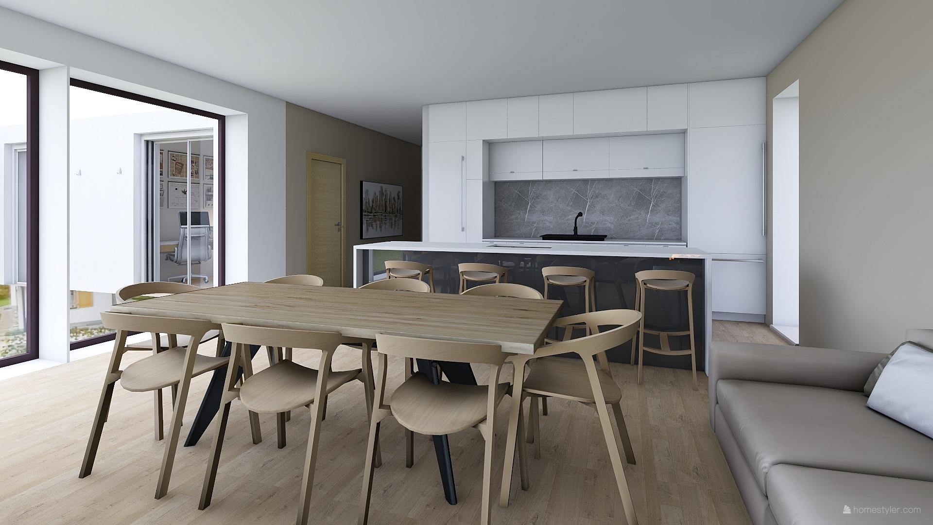 Mé dokonale nedokonalé vizualizace našeho budoucího domu - Kuchyň je zatím od oka, neboť její tvorba v Homestyleru je dost horor :-D