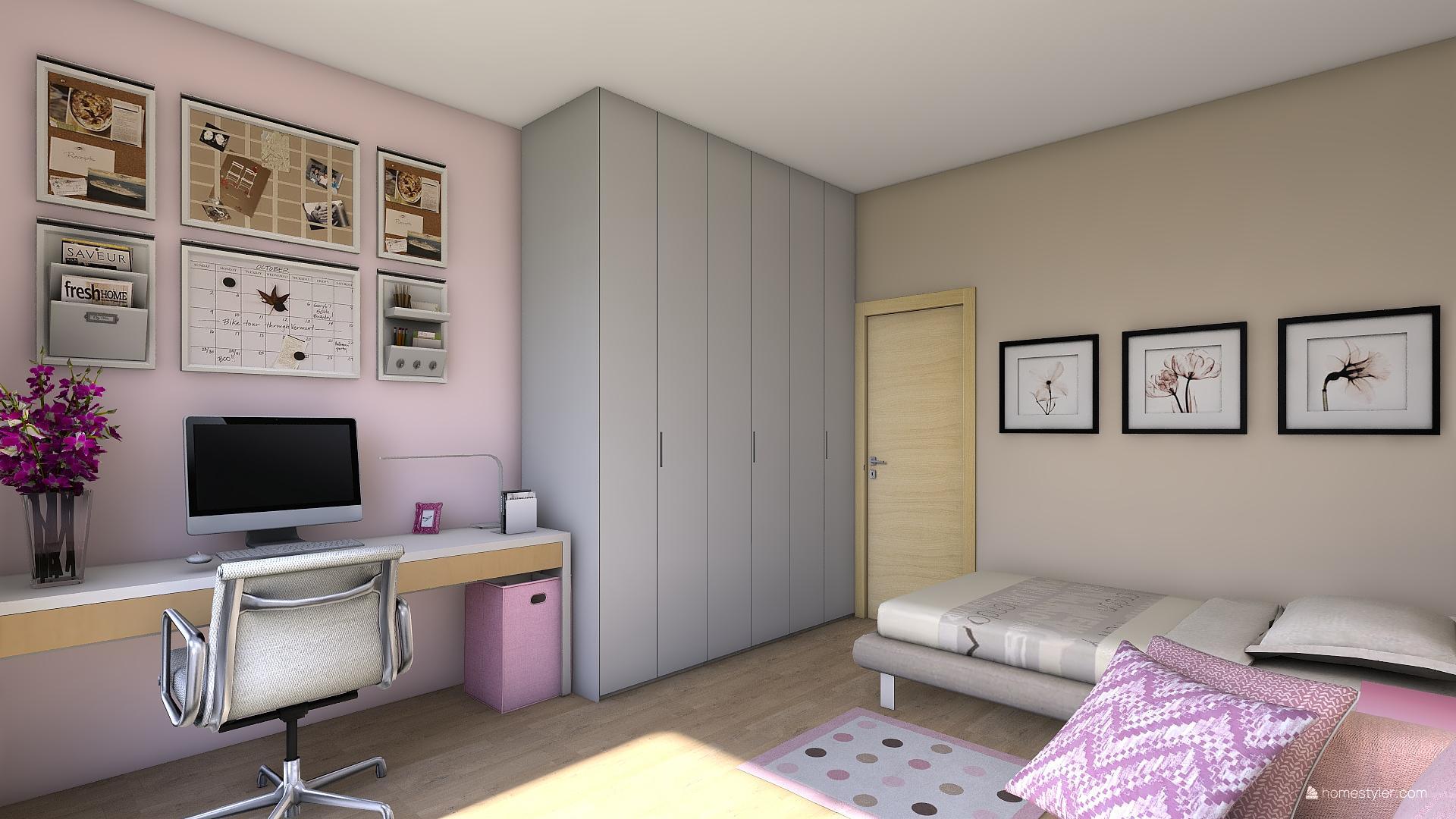 Mé dokonale nedokonalé vizualizace našeho budoucího domu - Zkouším rozvržení pokojíčku.