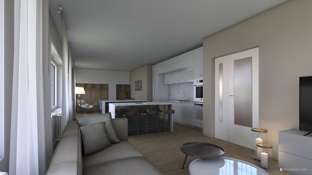 Vizualizace obýváku s kuchyní pro @iuanecka - Obrázek č. 1