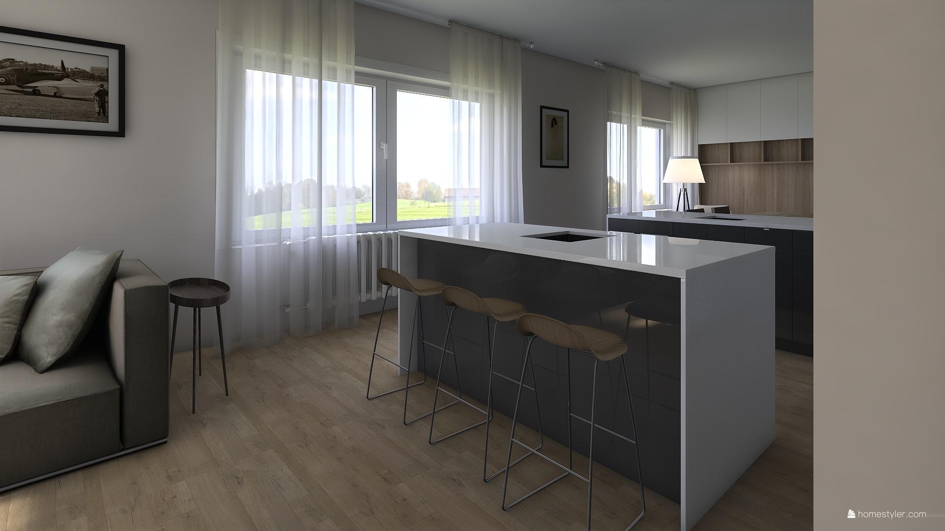 Vizualizace obýváku s kuchyní pro @iuanecka - Obrázek č. 2
