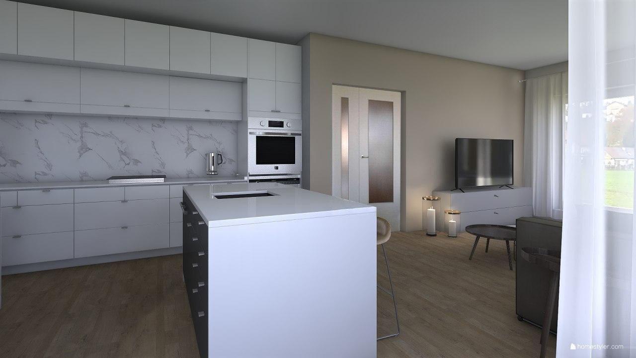 Vizualizace obýváku s kuchyní pro @iuanecka - Obrázek č. 3