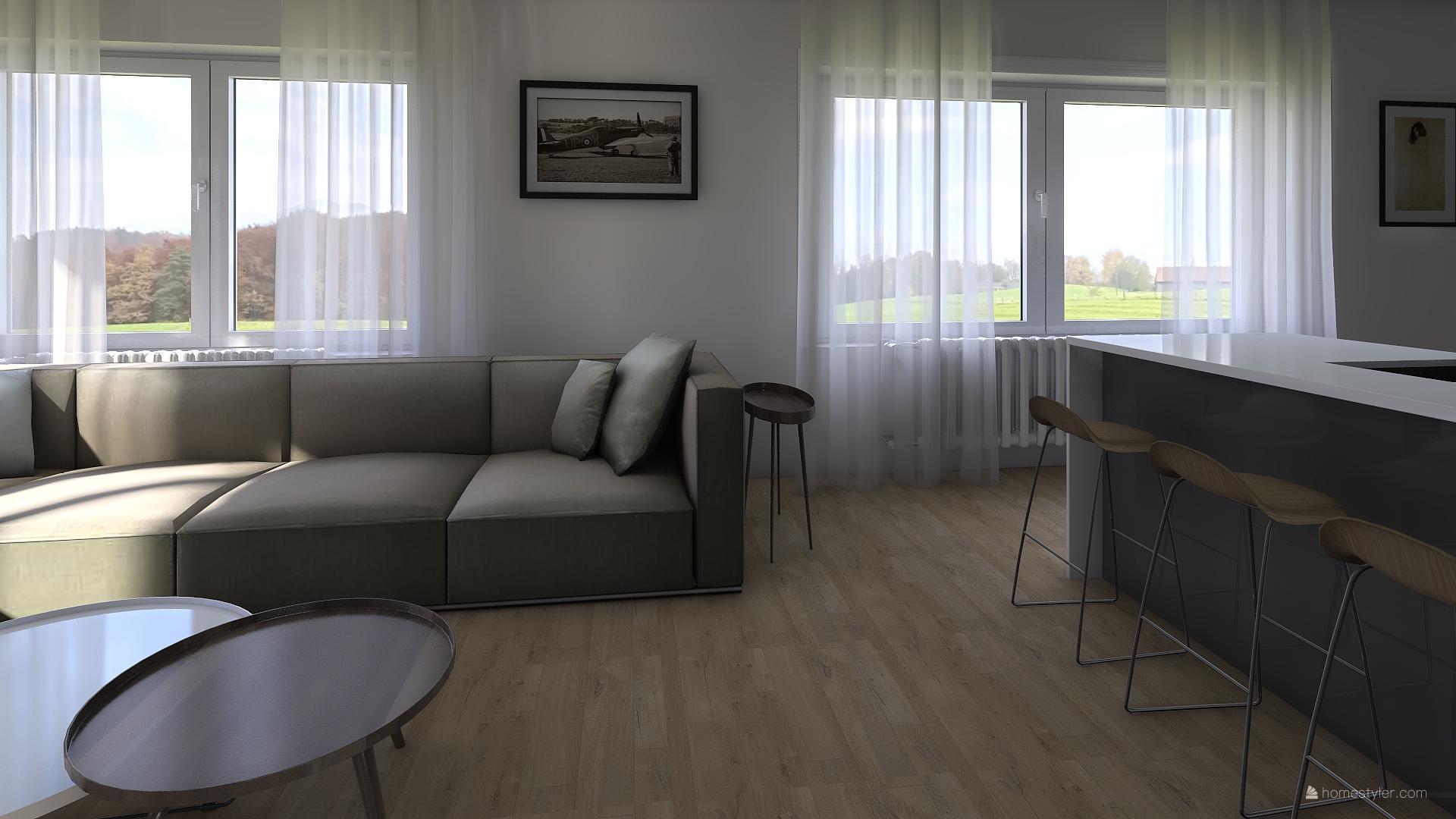 Vizualizace obýváku s kuchyní pro @iuanecka - Obrázek č. 4