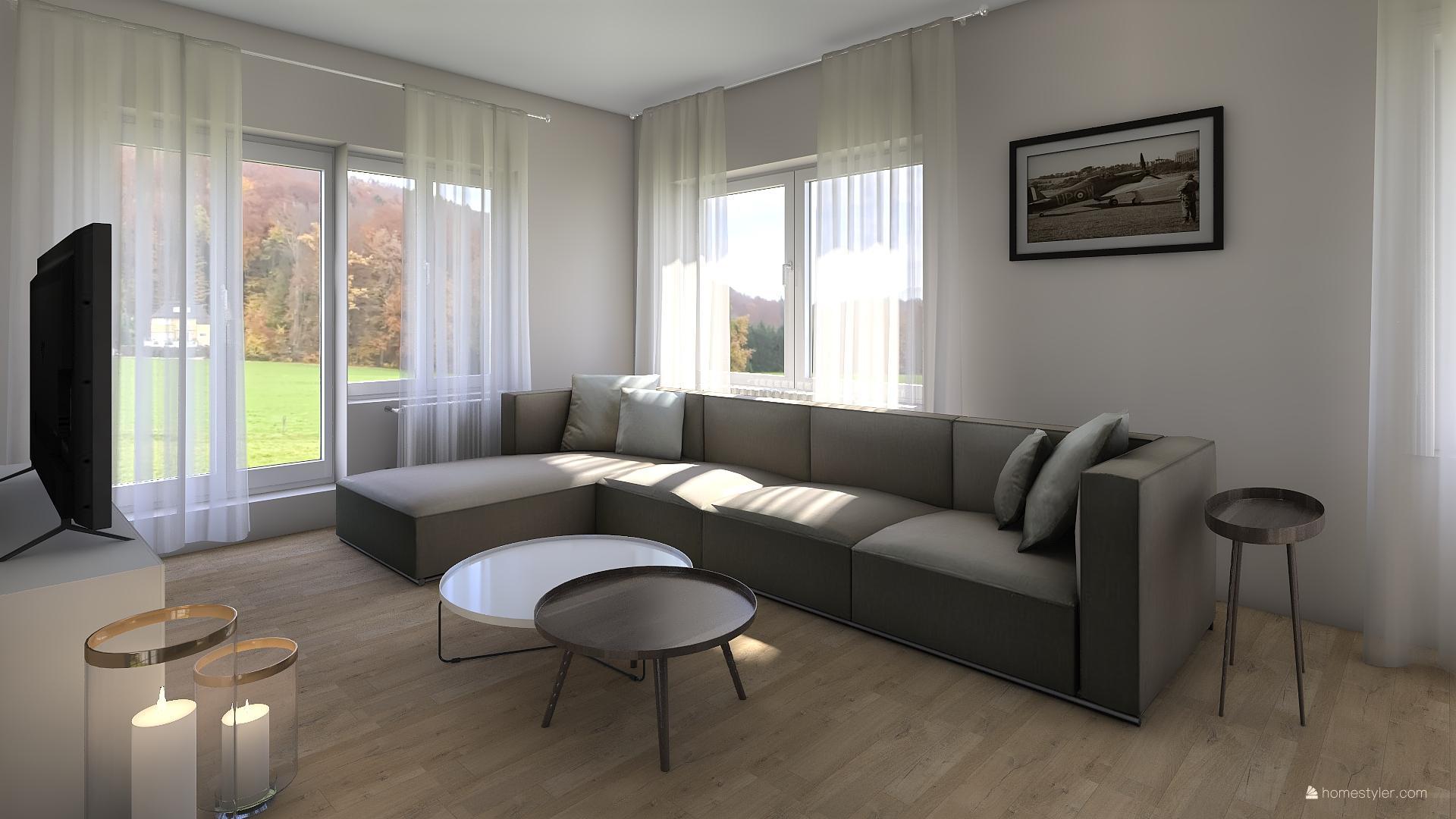 Vizualizace obýváku s kuchyní pro @iuanecka - Obrázek č. 5
