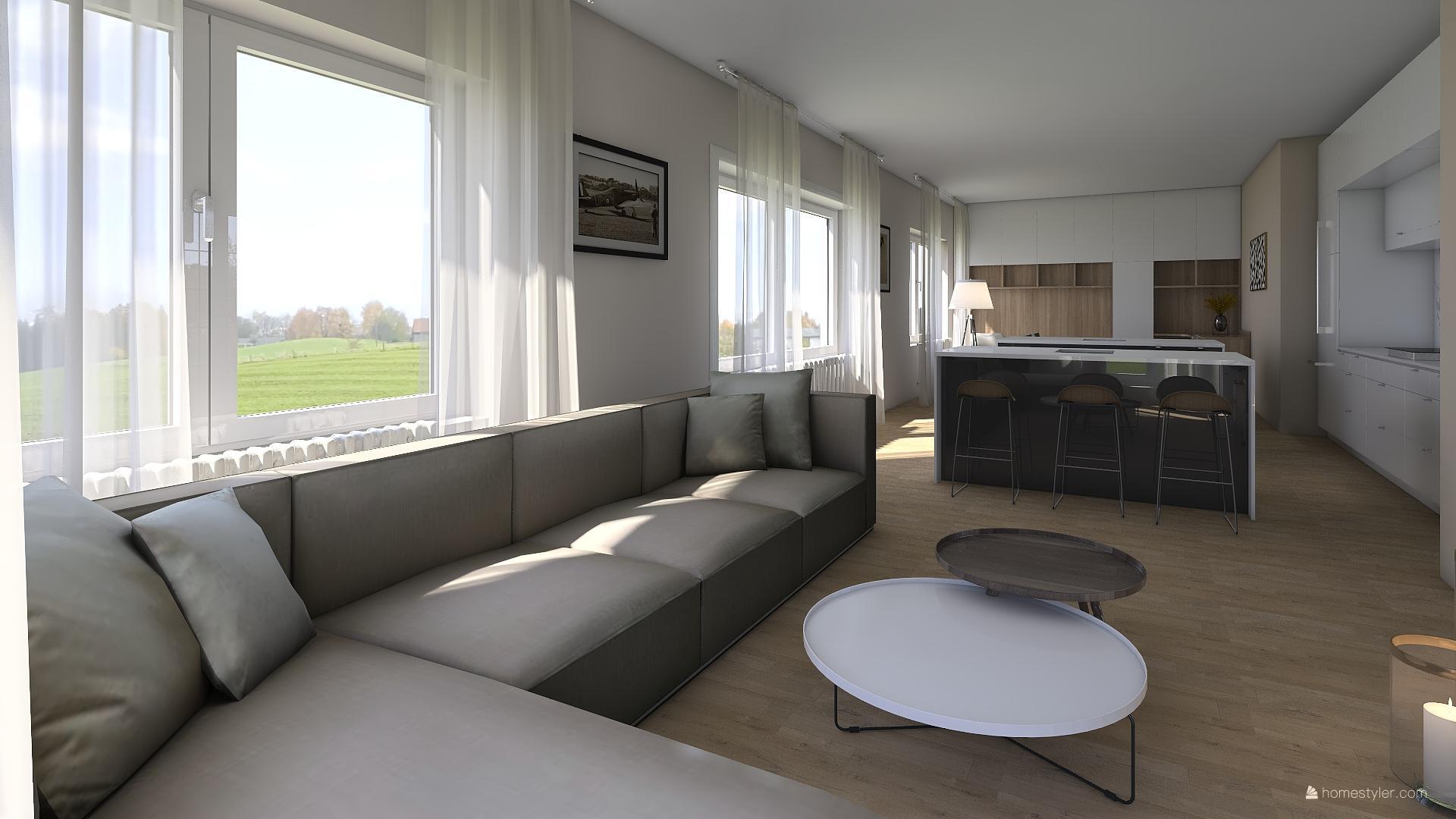 Vizualizace obýváku s kuchyní pro @iuanecka - Obrázek č. 6