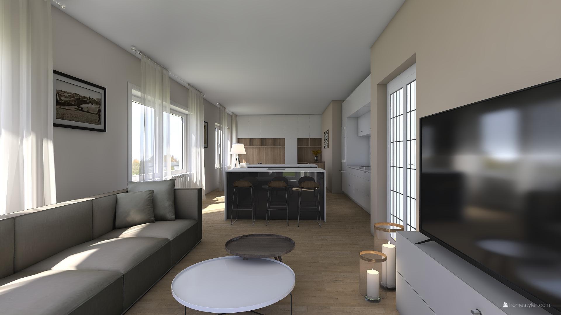 Vizualizace obýváku s kuchyní pro @iuanecka - Obrázek č. 7