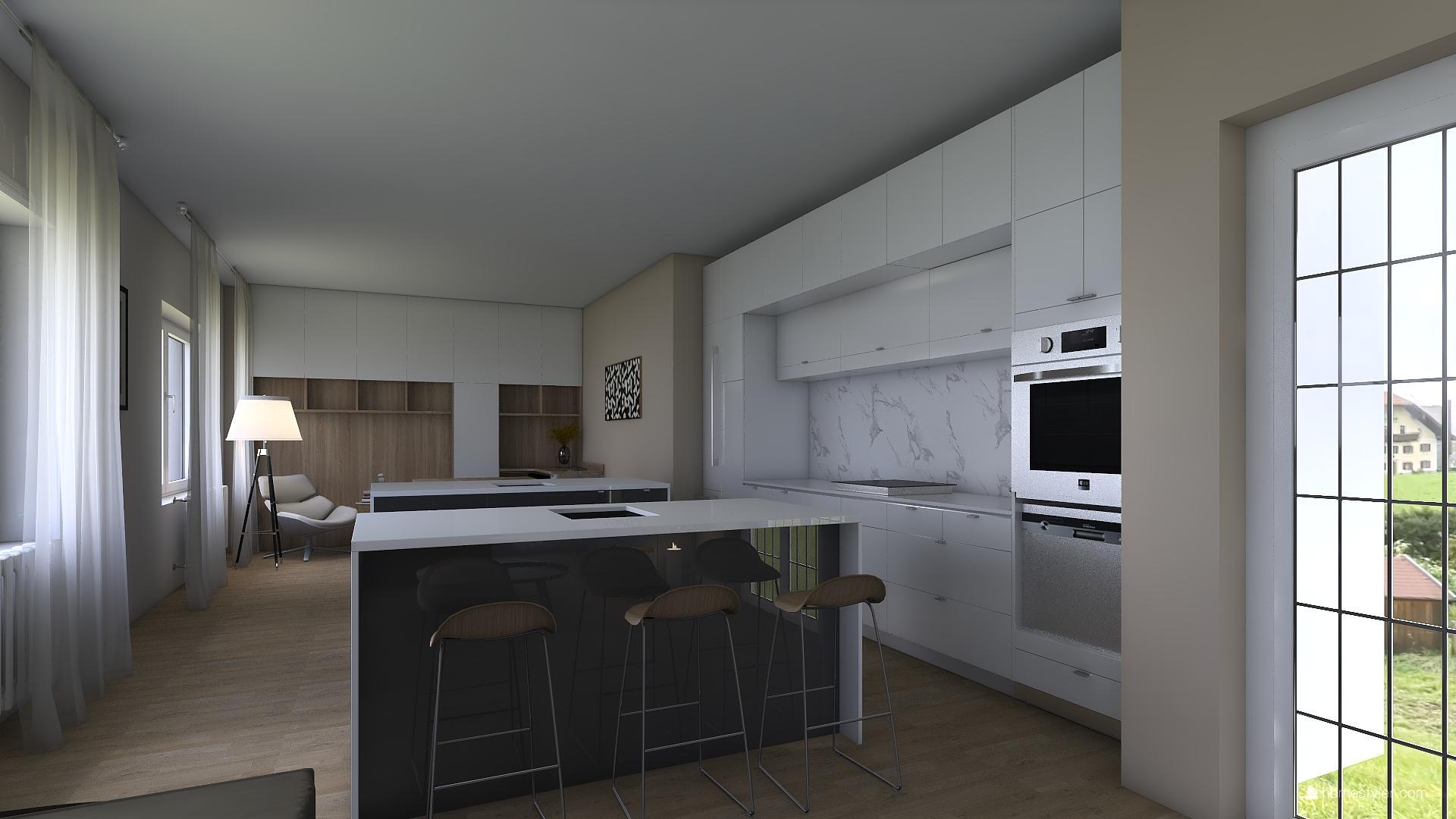 Vizualizace obýváku s kuchyní pro @iuanecka - Obrázek č. 8