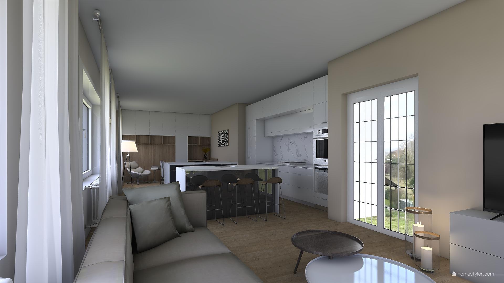 Vizualizace obýváku s kuchyní pro @iuanecka - Obrázek č. 9