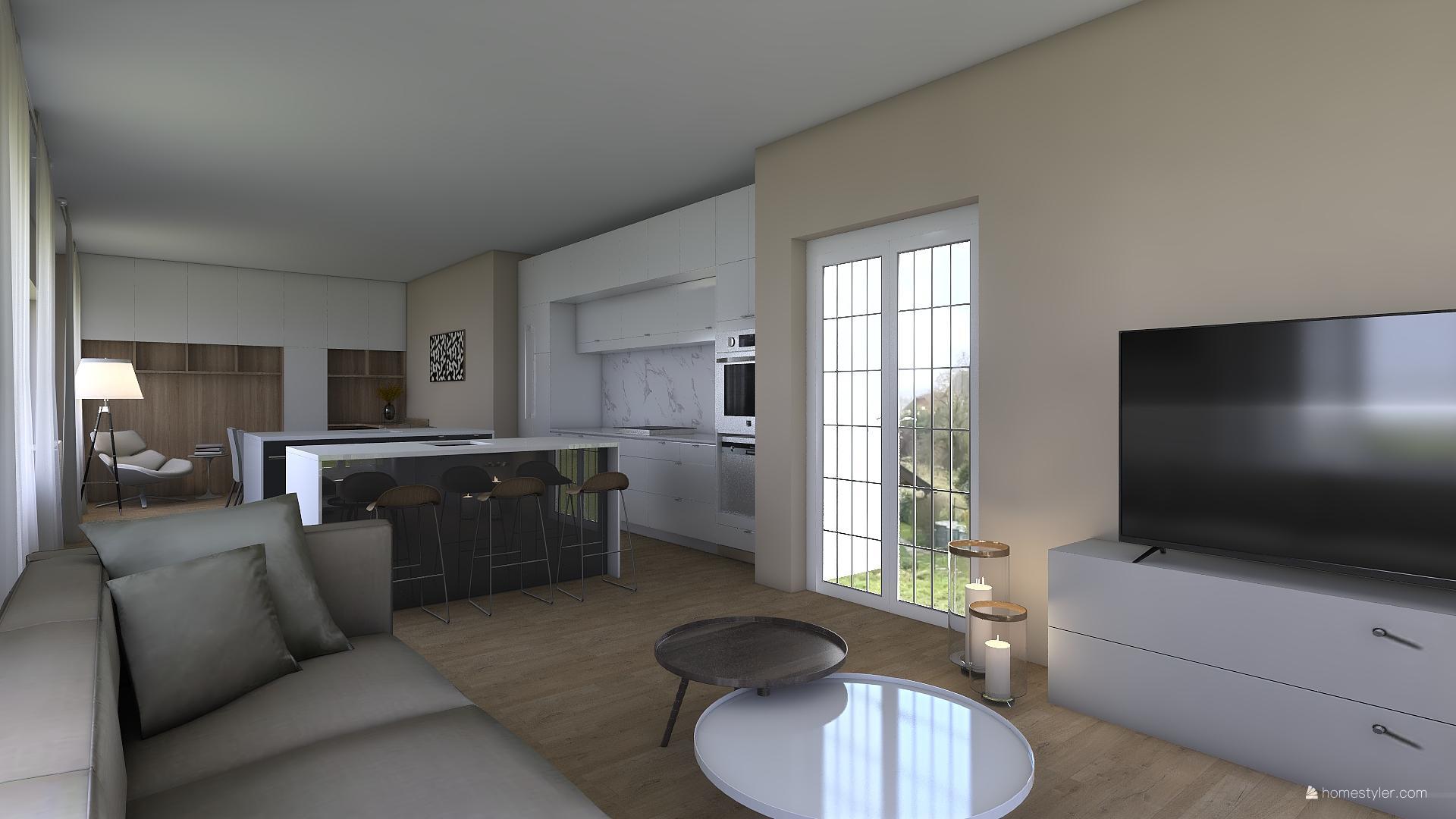 Vizualizace obýváku s kuchyní pro @iuanecka - Obrázek č. 10