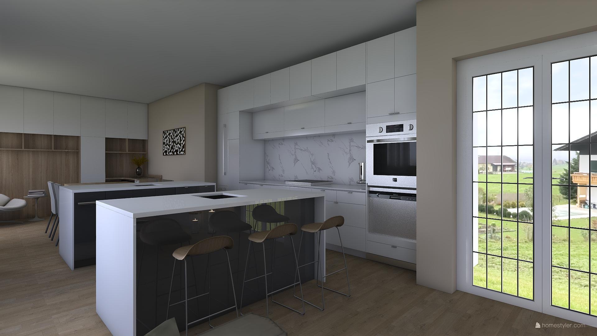 Vizualizace obýváku s kuchyní pro @iuanecka - Obrázek č. 11