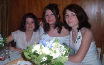 se sestrou a kamarádkou - svědkyní