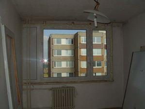 nová okna v ložnici