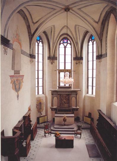 Přípravy a neb co máme a jaké jsou představy :o) - uvnitř kaple :-)