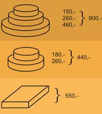 různé tvary a kombinace u medovníku