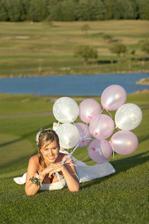 krásná nevěsta i balónky