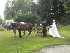 kočár pro novomanžele