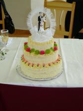 Naše svatební dorta, byla super mňam