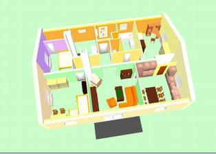 vizualizace rozmístění místností - zůstalo nezměněno