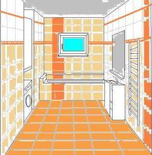 """návrh koupelny zhotovený v mém oblíbeném programu """"malování"""" :-D"""