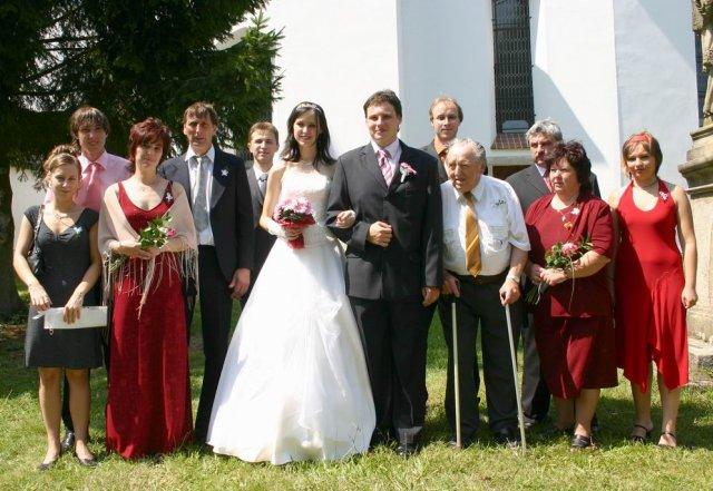 Janička Králová{{_AND_}}Vašík Hruška - s rodinami a svědky