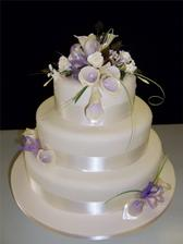Ideas for cake. A friend is making my cake and Im having one like this but 2 tiers. I like the idea of the flowers