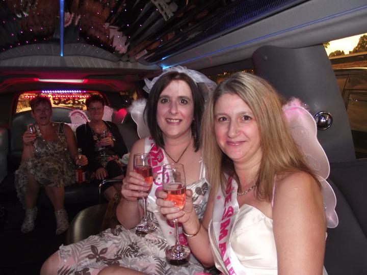 Hen Night - me and my sister