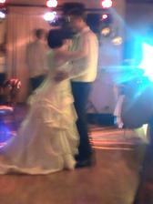 blurry first dance