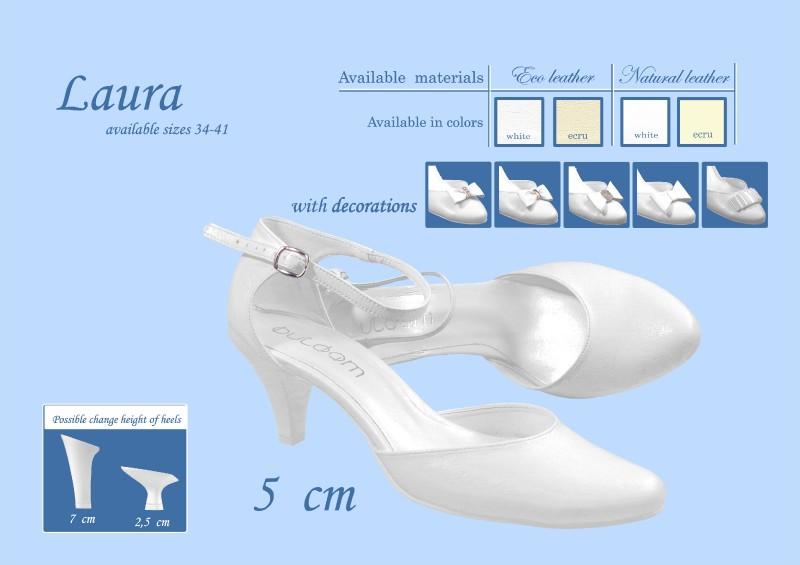 Svadobné topánky Laura, veľ. 34 - 41, i krémové - Obrázok č. 1