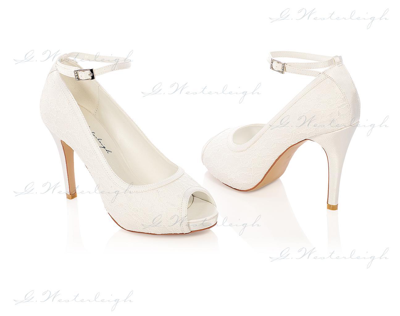 Svadobné topánky s čipkou Leila, veľ. od 35 do 41 - Obrázok č. 1