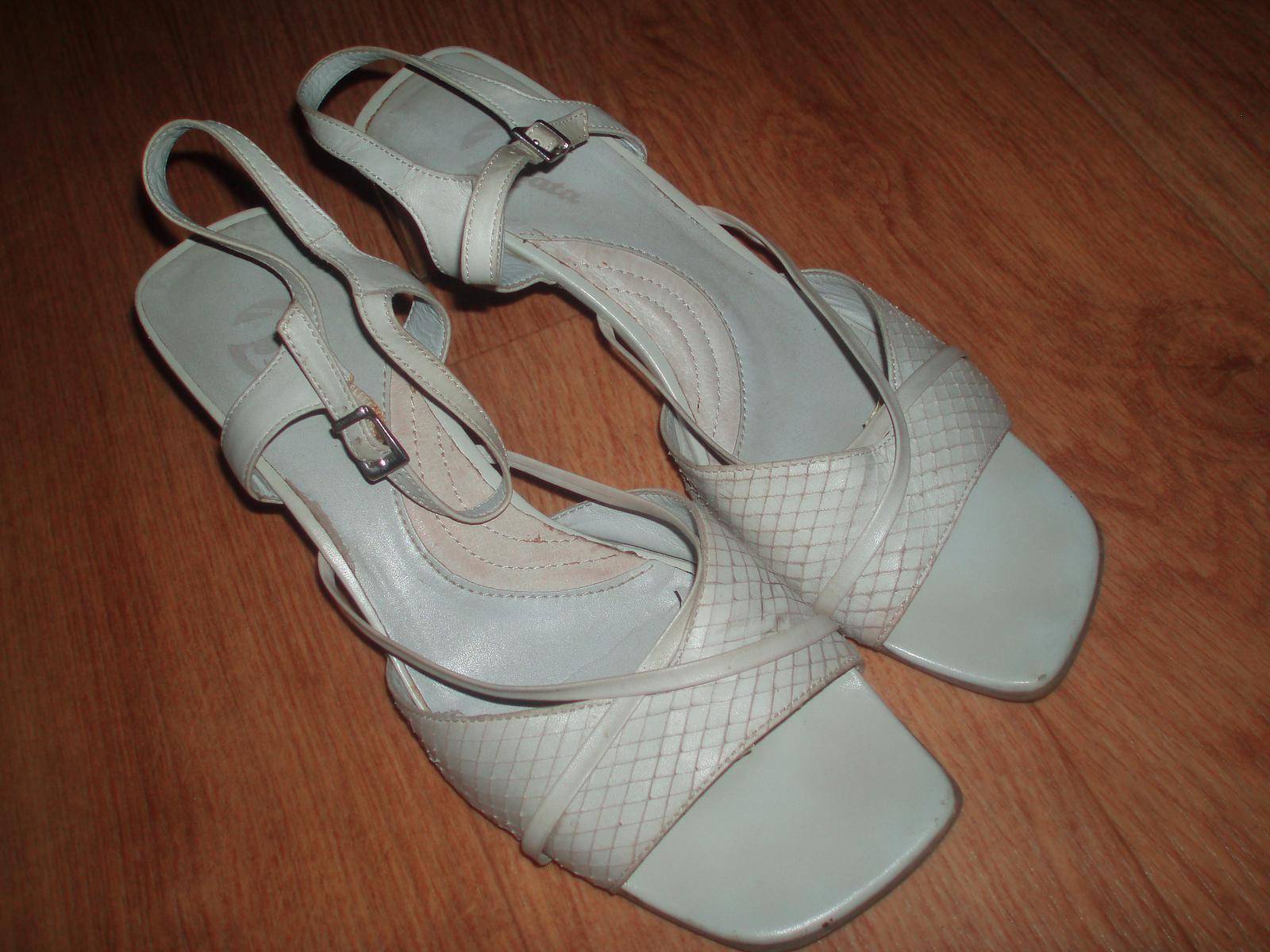 Střevíčky, sandály, obuv pro nevěstu vel. 39 Baťa - Obrázek č. 1