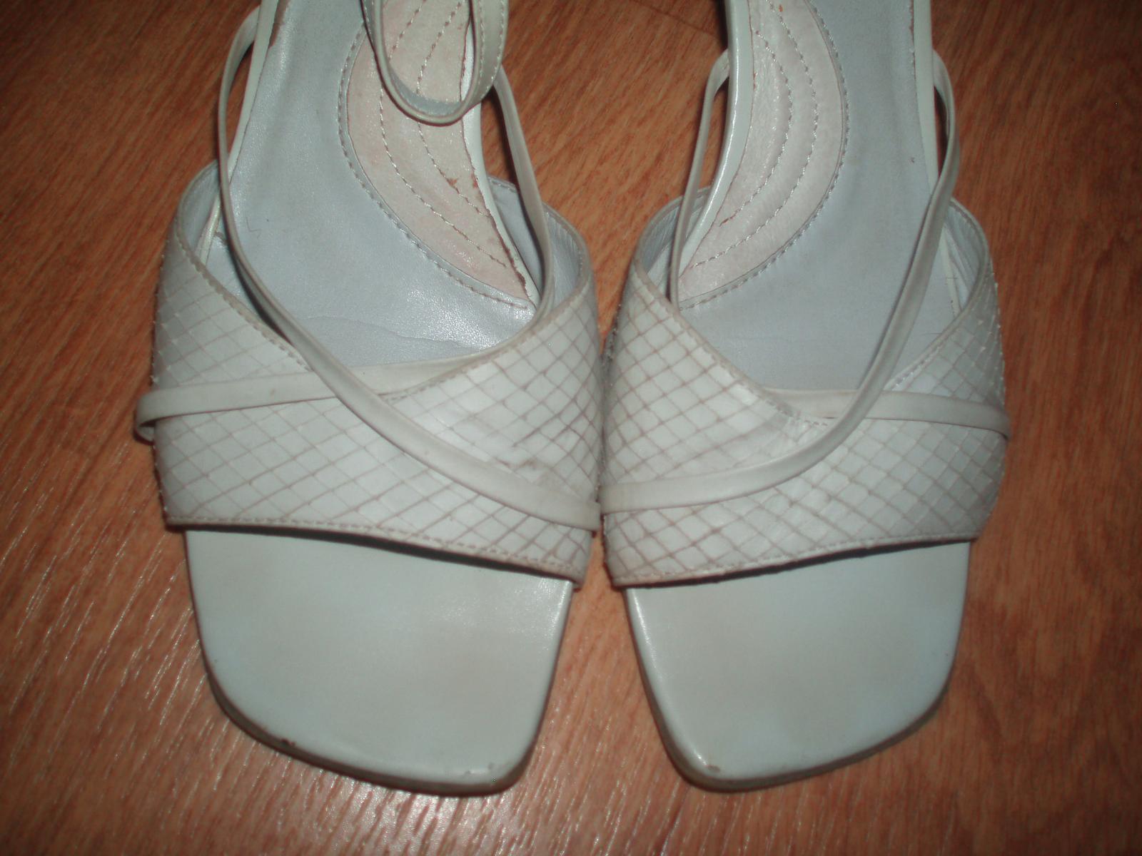 Střevíčky, sandály, obuv pro nevěstu vel. 39 Baťa - Obrázek č. 2