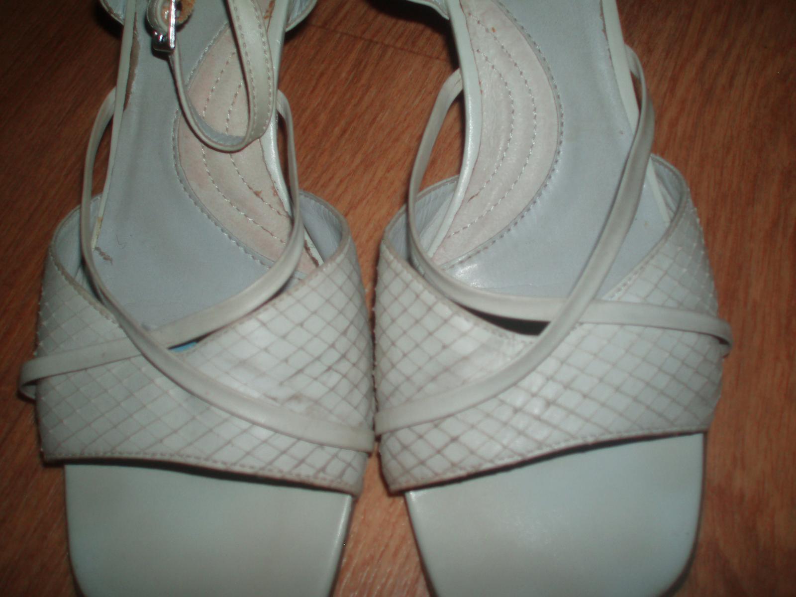 Střevíčky, sandály, obuv pro nevěstu vel. 39 Baťa - Obrázek č. 3