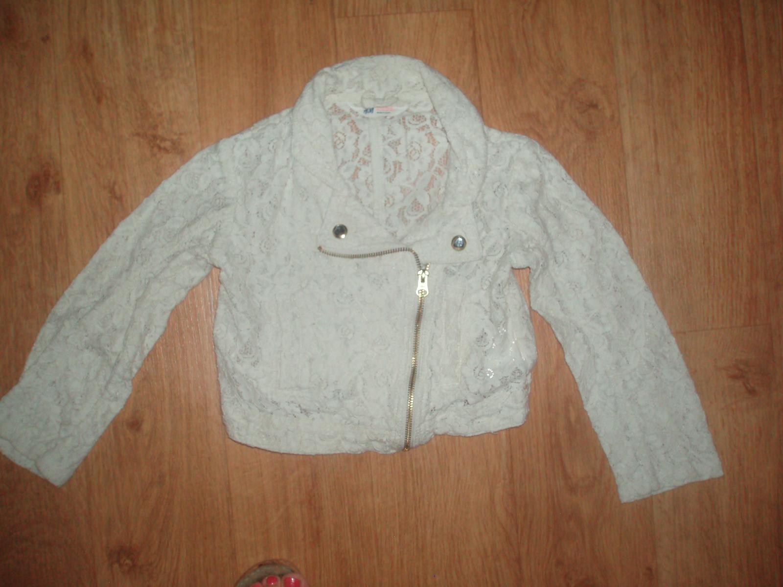 Béžové bolerko / bunda H&M vel. 122 - Obrázek č. 1