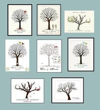 plátno na strom - ,,kniha hostů' - na otisky