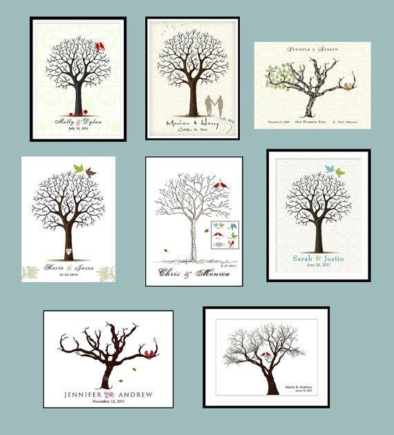 Co máme na naši svatbičku - plátno na strom - ,,kniha hostů' - na otisky