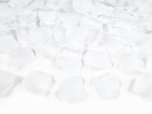 bílé okvětní plátky