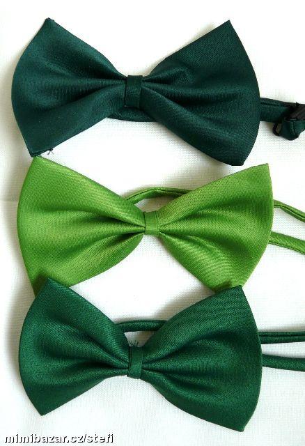 Co máme na naši svatbičku - motýlky pro všechny pány - světle zelené a středně zelené