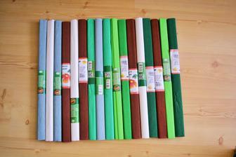 krepový papír na výrobu pomponů